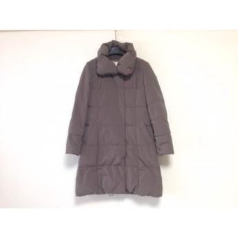 【中古】 ナチュラルビューティー ダウンコート サイズ38 M レディース 美品 グレー 冬物/ジップアップ