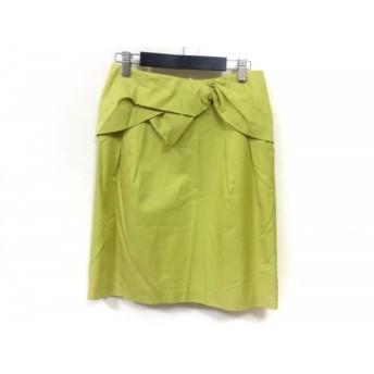 【中古】 エストネーション ESTNATION スカート サイズ36 S レディース イエロー bis