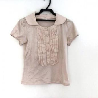 【中古】トゥービーシック TO BE CHIC 半袖ポロシャツ サイズ2 M レディース 美品 ピンク フリル