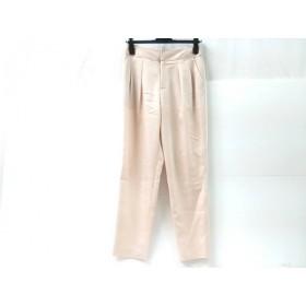 【中古】 ノーブランド パンツ サイズ38 M レディース ピンクベージュ