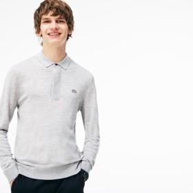 ウールニットポロシャツ