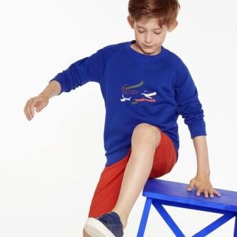 3Dシルエットロゴプリントボーイズスウェットシャツ