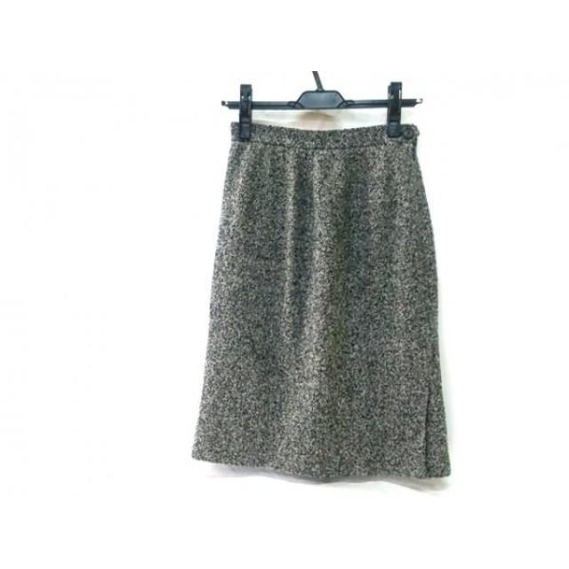 【中古】 アクアスキュータム Aquascutum スカート サイズ9 M レディース グレー ブラック