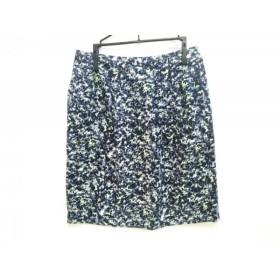 【中古】 ジユウク 自由区/jiyuku スカート サイズ36 S レディース ネイビー ブルー ライトグリーン