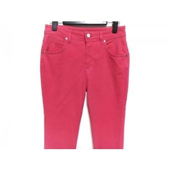 【中古】 アレキサンダーマックイーン パンツ サイズ26 S レディース ピンク 白 ネイビー 刺繍