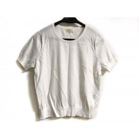 【中古】 ニジュウサンク 23区 半袖カットソー サイズ46 XL レディース 白 Heritage Classic COLLECTION