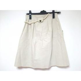 【中古】 アプワイザーリッシェ Apuweiser-riche スカート サイズ1 S レディース 美品 ベージュ ラメ