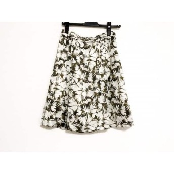【中古】 ニジュウサンク 23区 スカート サイズ32 XS レディース ダークブラウン ベージュ 花柄
