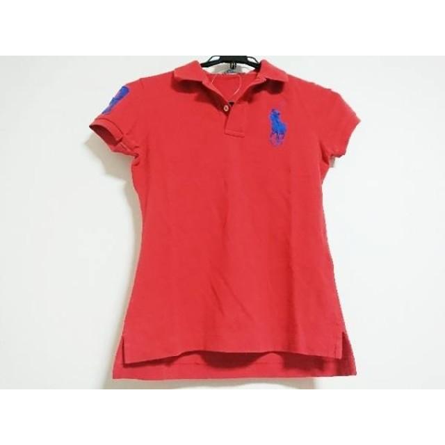 【中古】 ラルフローレン RalphLauren 半袖ポロシャツ サイズM レディース ビッグポニー レッド