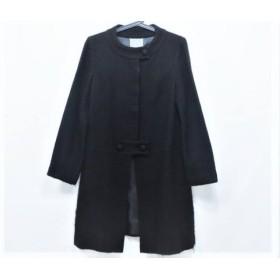 【中古】 ヤンガニー yangany コート サイズ38 M レディース 黒 冬物