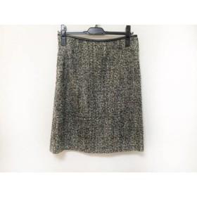 【中古】 ジユウク スカート サイズ38 M レディース アイボリー 黒 ネイビー スパンコール