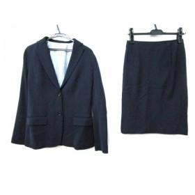 【中古】 ノーブランド スカートスーツ サイズ38 M レディース ネイビー