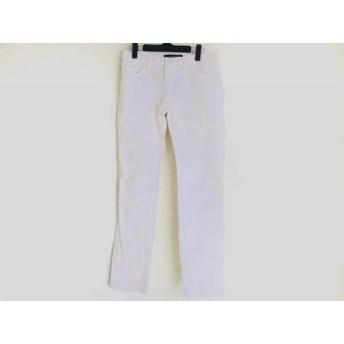 【中古】 ジェイブランド J Brand パンツ サイズ25 XS レディース アイボリー ダメージ加工