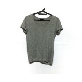 【中古】 セオリー theory 半袖Tシャツ サイズS レディース 美品 ライトグレー