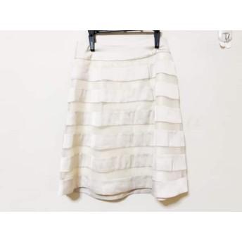 【中古】 ジャスグリッティー JUSGLITTY スカート サイズ2 M レディース アイボリー ボーダー