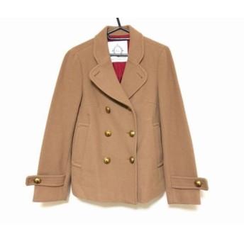 【中古】 ティアラ Tiara コート サイズ3 L レディース ブラウン 冬物/ショート丈/ダブル
