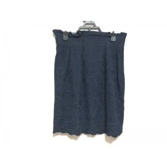 【中古】 フレイアイディー FRAY I.D スカート サイズ1 S レディース ダークネイビー 花柄/刺繍