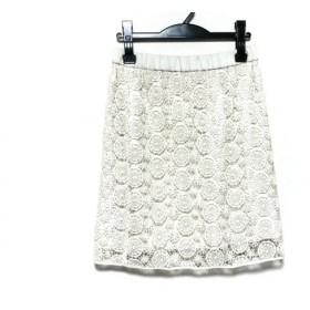 【中古】 ロイスクレヨン Lois CRAYON ミニスカート サイズM レディース 美品 白 レース