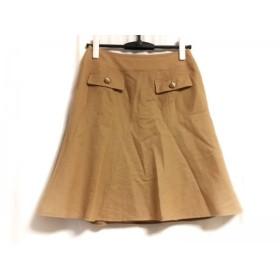 【中古】 ナラカミーチェ NARACAMICIE スカート サイズ2 M レディース ライトブラウン