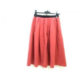 【中古】 ノーブランド スカート サイズ36 S レディース レッド ブラック