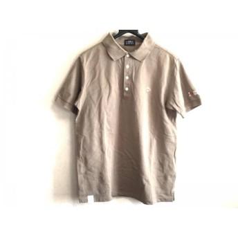 【中古】 パーリーゲイツ PEARLY GATES 半袖ポロシャツ サイズ5 XL メンズ カーキ オレンジ 白