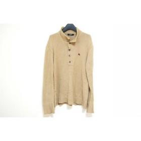 【中古】 バーバリーブラックレーベル 長袖セーター サイズ3 L メンズ ベージュ ボルドー マルチ