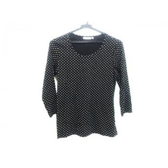 【中古】 ノーブランド 長袖Tシャツ サイズS レディース ブラック アイボリー