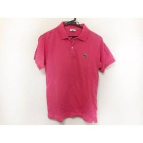 【中古】 ラコステ Lacoste 半袖ポロシャツ サイズ2 M メンズ ピンク
