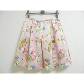 【中古】 チェスティ Chesty スカート サイズ1 S レディース 美品 ピンク マルチ 花柄