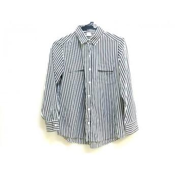 【中古】 ノーブランド 長袖シャツ サイズ38 M レディース ホワイト ブラック