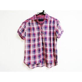 【中古】 イーストボーイ EASTBOY 半袖ポロシャツ サイズ9 M レディース レッド ネイビー アイボリー