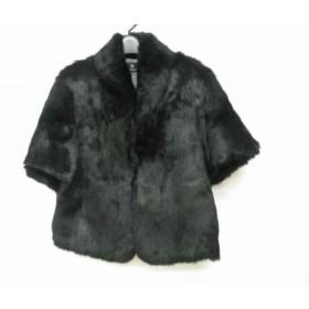 【中古】 ビューティアンドユース ユナイテッドアローズ ジャケット レディース 美品 黒 ラビットファー