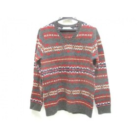 【中古】 フリークスストア freak's store 長袖セーター サイズM M メンズ 赤 マルチ