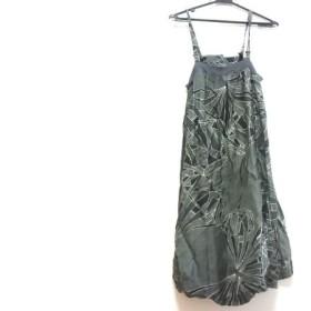 【中古】 ディーゼル ワンピース サイズXS レディース グレー 黒 マルチ キャミワンピ/バルーンスカート
