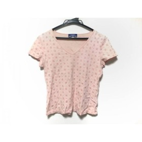 【中古】 バーバリーブルーレーベル Burberry Blue Label 半袖Tシャツ サイズM M レディース ピンク ラメ