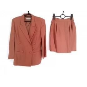 【中古】 エンポリオアルマーニ EMPORIOARMANI スカートスーツ サイズ40 M レディース ブラウン 肩パッド