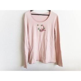 【中古】 ピンクハウス 長袖カットソー サイズL レディース ピンク マルチ リボン/刺繍/フラワー
