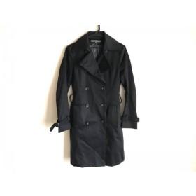 【中古】 ブラックバイマウジー BLACK by moussy トレンチコート サイズ1 S レディース 黒 春・秋物