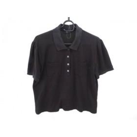 【中古】 アクアスキュータム Aquascutum 半袖ポロシャツ レディース 黒