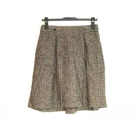 【中古】 トゥモローランド TOMORROWLAND スカート サイズ36 S レディース 黒 ベージュ collection