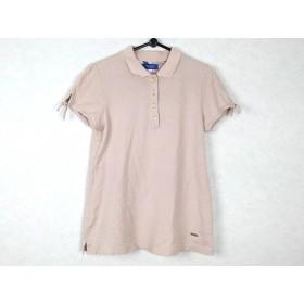 【中古】 ブルーレーベルクレストブリッジ 半袖ポロシャツ サイズ38 M レディース ベージュ
