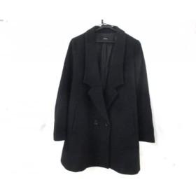 【中古】 ルシェルブルー LE CIEL BLEU コート サイズ40 M レディース 黒 冬物