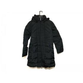【中古】 モンクレール MONCLER ダウンコート レディース - 黒 冬物/ロング丈