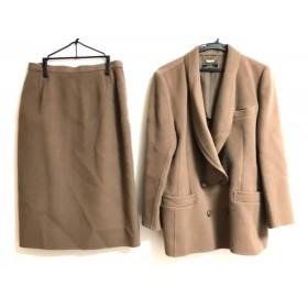 【中古】 レリアン Leilian スカートスーツ サイズ11 M レディース ブラウン
