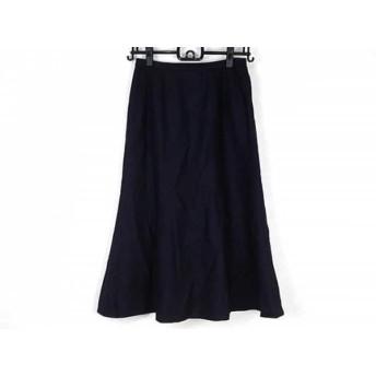 【中古】 レリアン Leilian ロングスカート サイズ9 M レディース ダークネイビー