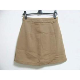【中古】 シンゾーン Shinzone ミニスカート サイズ38 M レディース ライトブラウン