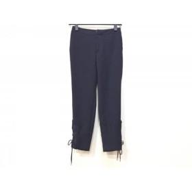 【中古】 ルシェルブルー LE CIEL BLEU パンツ サイズ36 S レディース 新品同様 ネイビー リボン