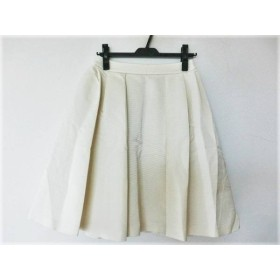 【中古】 コトゥー COTOO スカート サイズ38 M レディース 美品 アイボリー プリーツ
