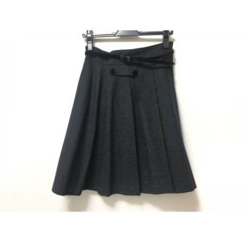 【中古】 ロイスクレヨン Lois CRAYON スカート サイズM レディース ダークグレー プリーツ