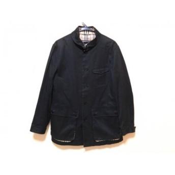 【中古】 バーバリーブラックレーベル Burberry Black Label コート サイズM レディース 黒 春・秋物